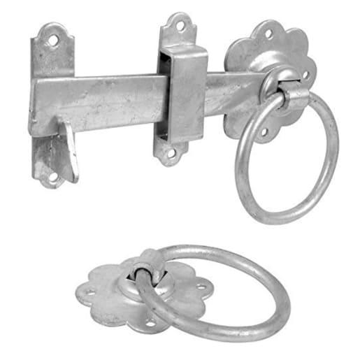 Carlisle Brass Ring Gate Catch 40 x 150 x 110mm Zinc Plated