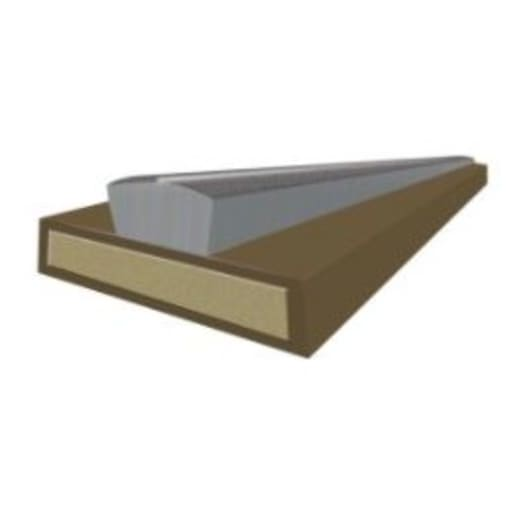 Astroflame Intumescent Strip Fire and Smoke 2m x 15mm x 4mm Brown