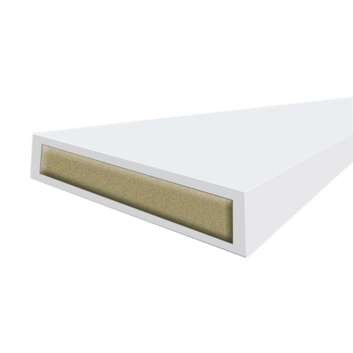 Intumescent Strip Fire . White 15mm x 4mm x 2100mm