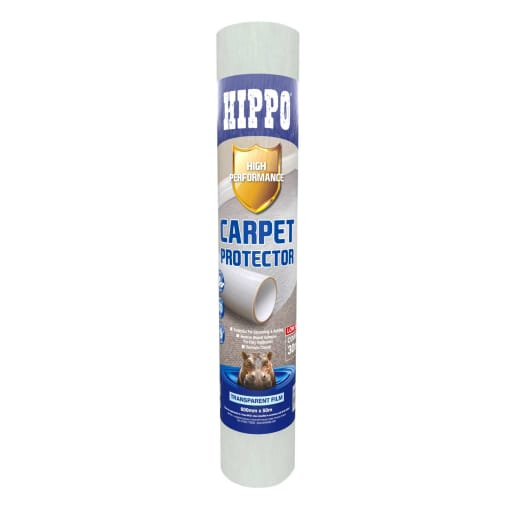 Hippo High Performance Carpet Protector 50m x 600mm White