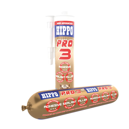 Hippo Pro 3 Adhesive, Sealant & Filler 310ml Clear