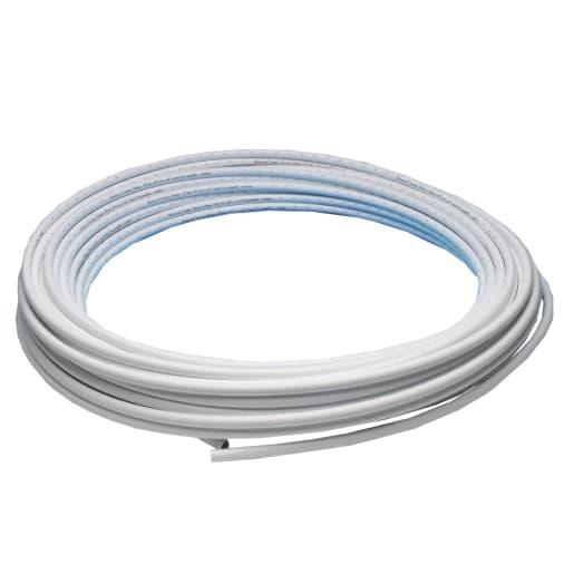 JG Speedfit Layflat Barrier Coil Pipe 50m x 15mm White