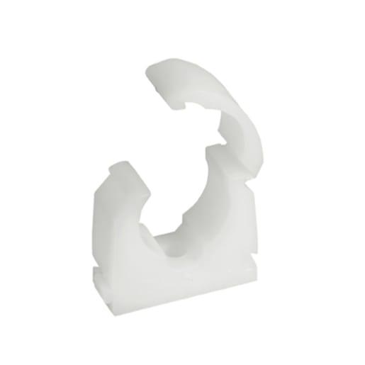 Talon Single Hinged Pipe Clip 22mm White