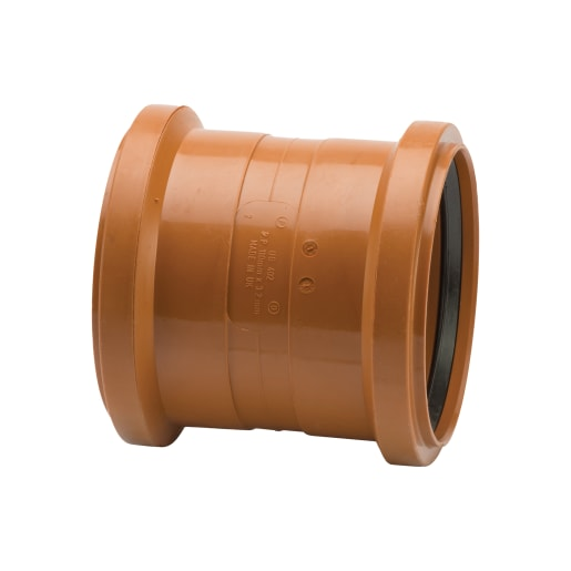 Polypipe Drain Double Socket Coupler 110mm Terracotta
