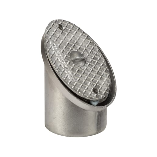 Polypipe Drain 45° Rodding Eye 110mm Aluminium