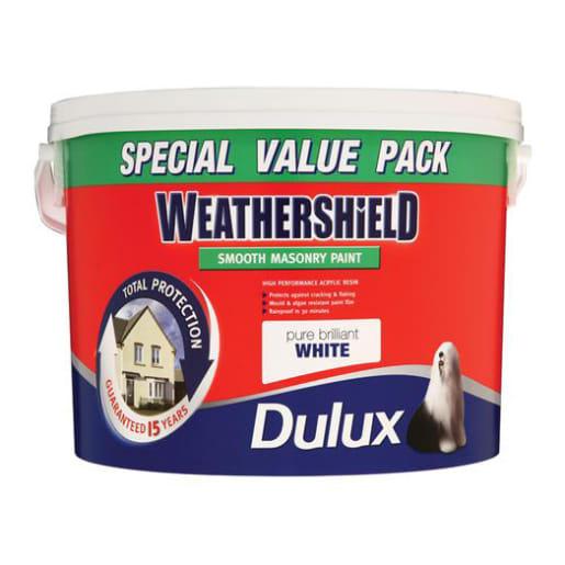 Dulux Trade Weathershield Masonry Paint 7.5L Brilliant White