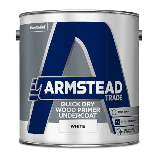 Armstead Trade Quick Dry Wood Primer Undercoat 2.5L White