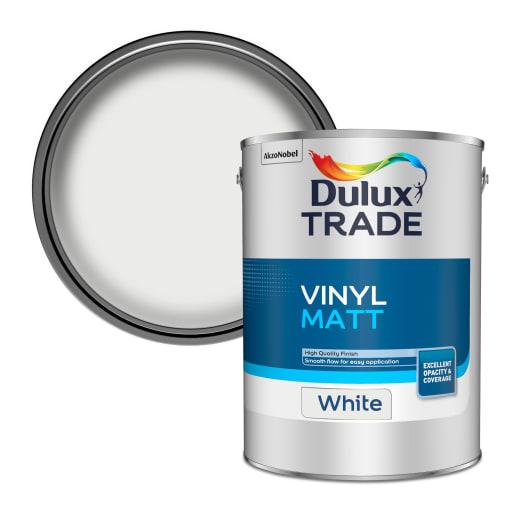Dulux Trade Vinyl Matt Paint 5L White