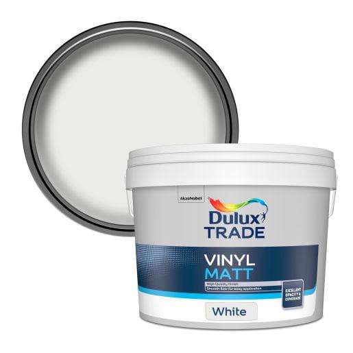Dulux Trade Vinyl Matt Paint 10L White