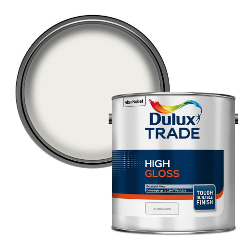 Dulux Trade High Gloss Paint 2.5L Pure Brilliant White