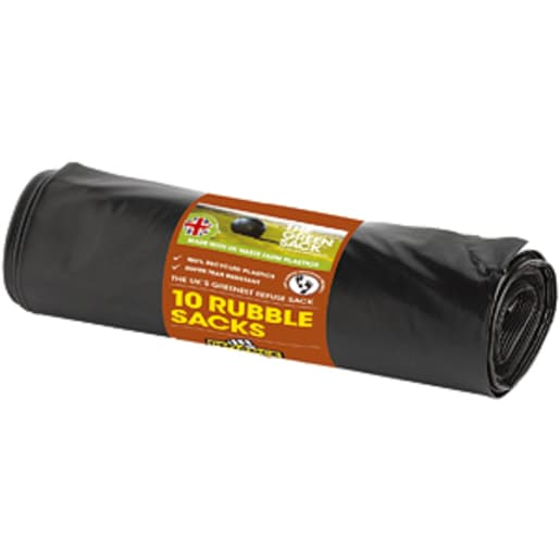 Defiance Rubble Sack 800 x 550mm Pack of 10 Black