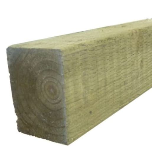 FSC Incised Fence Post Green Treated 3000 x 100x 100mm