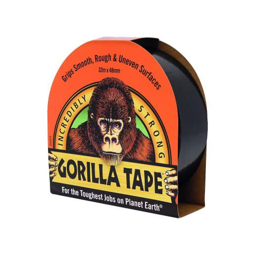Gorilla Glue Cloth Tape 32m x 48mm Black